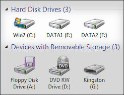 My Computer Drive Icons
